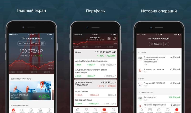Мобильное приложение Альфа Капитал